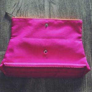 Clinique Bags - Clinique Pink Zip Pouch Cosmetic